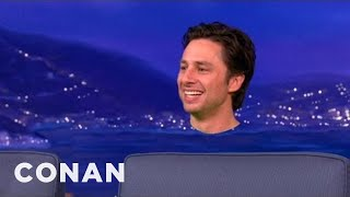 "Zach Braff Shows Off How He Got Monkiefied For ""Oz the Great & Powerful"" - CONAN on TBS"