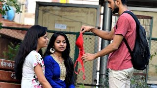 Pulling Bra From Hair Prank | AVRprankTV | Pranks in India