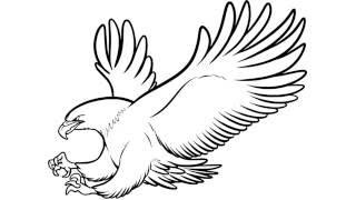 как нарисовать орла,how to draw an eagle,cóm...