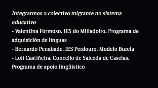 Integrarmos o colectivo migrante no sistema educativo