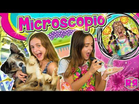 RETO del MICROSCOPIO  Viendo cosas Bajo el MICROSCOPIO ???? ¿Slime, piel, maquillaje, comida, cara?