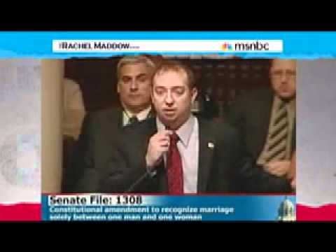 MN State Rep. Steve Simon and marriage amendment on Rachel Maddow
