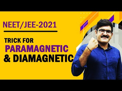 Trick For Paramagnetic and Diamagnetic | JEE | NEET | AIIMS | Class XI & XII
