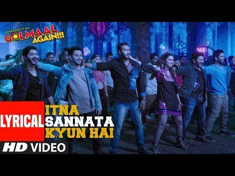 Itna Sannata Kyun Hai Lyrical Video Song | Golmaal