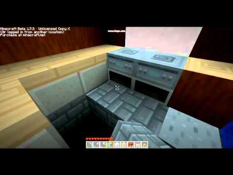 Minecraft How to make Kitchen, Luandry and bedroom