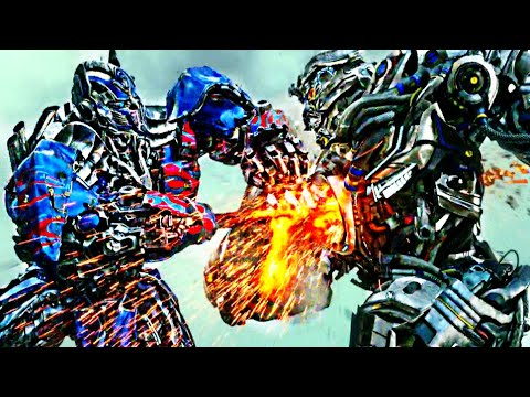 Transformers Age of Extinction  - Optimus Prime vs Galvatron and Lockdown  Scene (1080pHD VO)