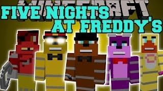 Minecraft: FIVE NIGHTS AT FREDDY'S MOD (FREDDY, FOXY, BONNIE, CHICA,&GOLDEN FREDDY!) Mod Showcase