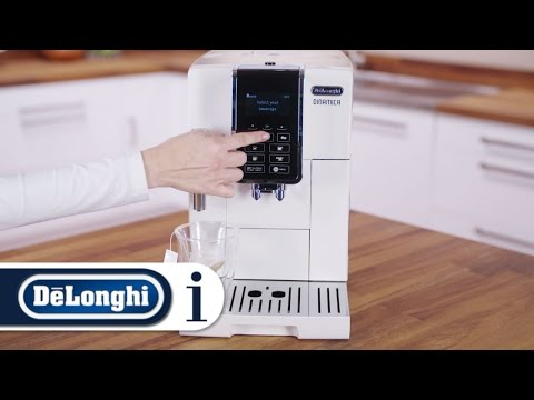 How to deliver hot water from your De'Longhi Dinamica ECAM 350.35.W bean-to-cup coffee machine