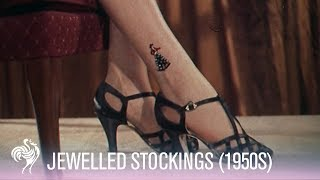 Hosiery Fashions - Bejewelled Stockings (1950s Trend Footage)