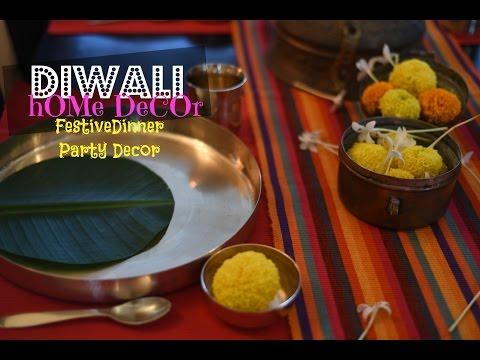 DIY Diwali Home Decor : Diwali Dinner Table Setting