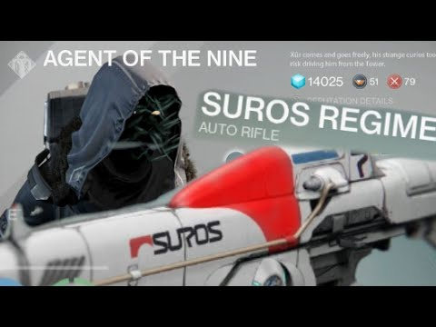 regime - Good news for those who missed Suros Regime last time! :D Xûr, Agent of the Nine returned today with new EXOTIC gear (gun & armor)! Xur now has Suros Regime exotic auto rifle again for only...