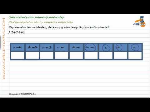 Vídeos Educativos.,Vídeos:Descomponer unidades, decenas, 1