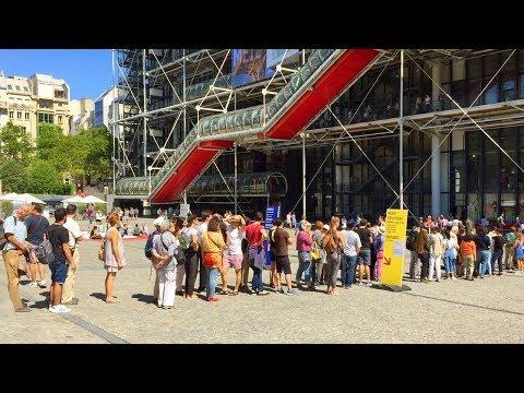 PARIS WALK   Pompidou Centre in Beaubourg   France