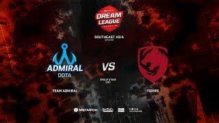 Team Admiral vs Tigers, DreamLeague Minor Qualifiers SEA,bo3, game 2 [Lex]