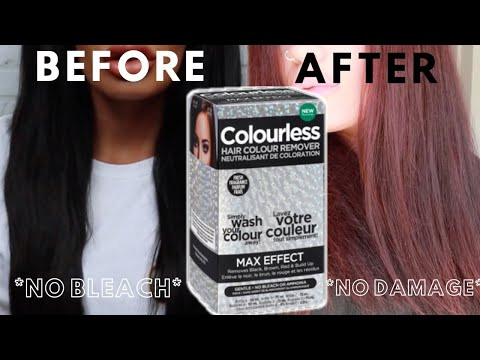 Remove Permanent Black Hair Dye At Home - NO BLEACH / NO DAMAGE - Colourless Remover REVIEW
