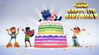Subway Surfers Happy 5th Birthday