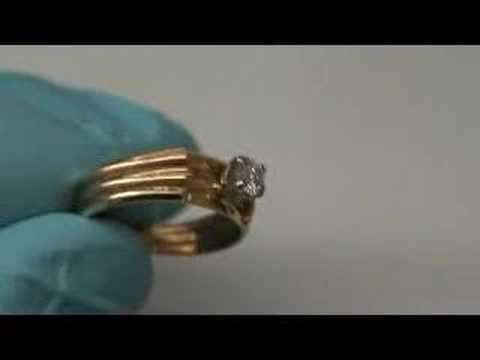 14 KT LADY'S WEDDING SET 3 RINGS SOLDERED