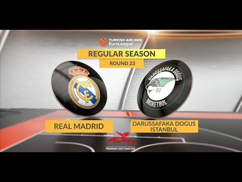 EuroLeague Highlights RS Round 23: Real Madrid 101-83 Darussafaka Dogus Istanbul