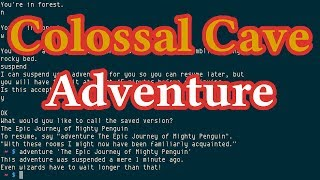 Colossal Cave Adventure from bsdgames, textual adventure game