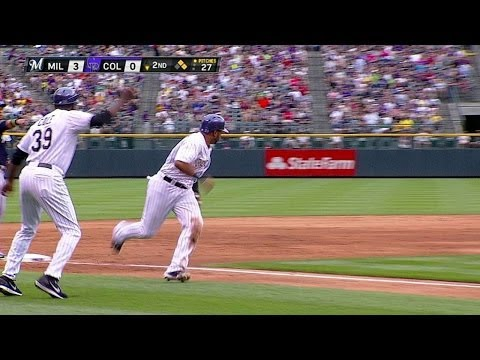 MIL@COL: Culberson's RBI single gets Rox on the board