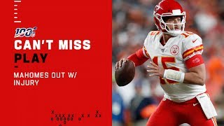 Mahomes Hurt After QB Sneak by NFL