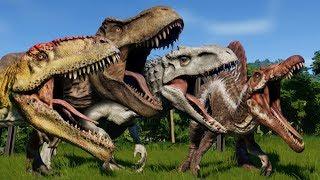 Jurassic World Evolution: BATTLE ROYALE ALL DINOSAURS!!! - Jurassic World Evolution | HD