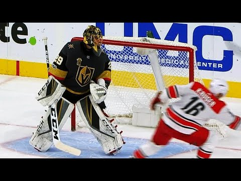 Puck hits Marcus Kruger's stick, finds way past Marc-Andre Fleury