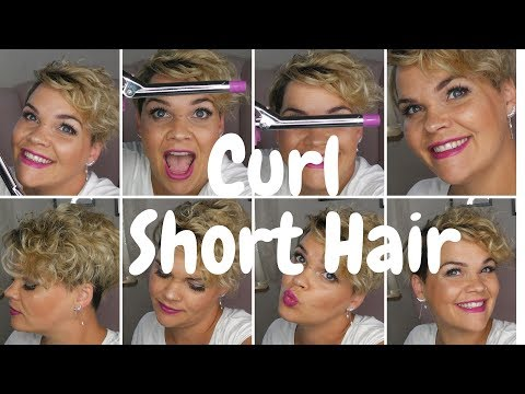 Hairstyles for short hair - 10 Minute Hair and Make up  Curl short hair