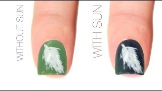 Feather Color-Changing Nail Art Design