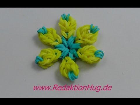 Loom Bands ohne Rainbow Loom Blume Anleitung Deutsch – Veronika Hug