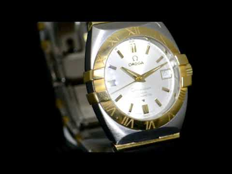 Men's 18k Yellow Gold/Stainless Steel Omega 'Constellation' Automatic Wristwatch