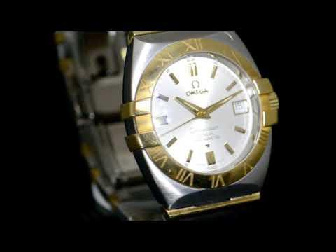 男裝18K黃金/不鏽鋼「歐米茄」「Constellation」自動腕表