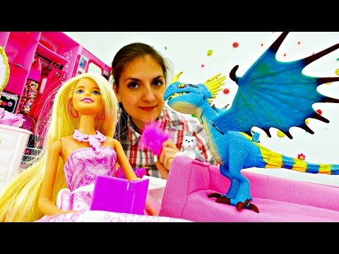 БАРБИ.Видео куклы.Игры для девочек.Профессия-актриса.Мультики про игрушки (видео)