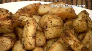 Oven Roasted Potatoes With Steak Spice Seasoning. Here is a kitchen tested oven roasted potatoes as a side dish.