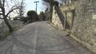 Makrinitsa Greece  city photos : Makrinitsa Pelion to Volos(Greece) by mountain bike 22nd Feb 2014