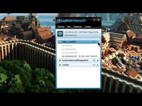 Como jugar Minecraft online con Hamachi CLIENTE/SERVIDOR