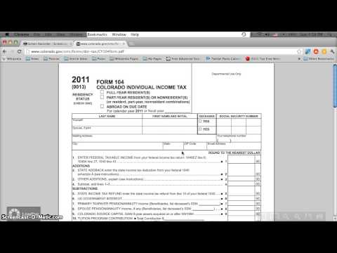 graphic regarding Printable Colorado Income Tax Form 104 referred to as 2015 co variety 104 - Fill Out and Indicator Printable PDF Template