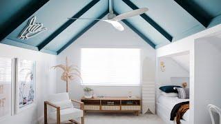 Kids Bedrooms + Main Bathroom Reveal, Episode 5   Colour Me Hamptons Renovation   House 11