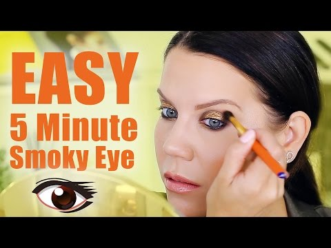 EASY FIVE MINUTE SMOKEY EYE | Makeup Tutorial