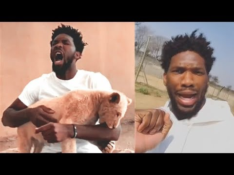 Joel Embiid Bitten By A Lion in Africa! 2018 NBA Africa Game