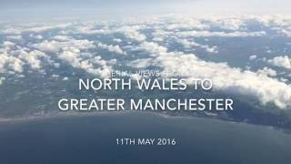 Towyn United Kingdom  city pictures gallery : Aerial Views from North Wales to Greater Manchester, England - 11th May, 2016