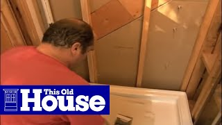 How to Replace a Shower Pan | This Old House