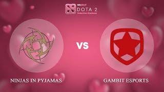 Ninjas in Pyjamas vs Gambit Esports - RU @Map4   Dota 2 Valentine Madness   WePlay!