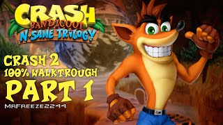 Part 1 of the Full 100% Walkthrough of the first Crash Bandicoot 2 Cortex Strikes Back  game in the N. Sane TrilogyI'll be showing you how to get all gems and platinum relics within this series of  walkthroughs. Timestamps for each level are below.Turtle Woods - 2:53Snow Go - 9:32Hang Eight - 13:54The Pits - 19:05Crash Dash - 24:19Ripper Roo Boss Fight - 27:25Subscribe if you're new to the channel for more episodes. Thank you very much for watching and i'll see you in the next video, cheers :)To support the channel become a patron:https://youtu.be/y5L8velWHGwClick the link for more info regarding donating to me and supporting the channel to help me get the equipment i need to make content covering older hitman series and splinter cell series:http://www.patreon.com/MrFreeze2244Current Patrons:Timothy PhanPlayerx54Nathan HoodKevin SaintDavid ParrottTom FennessyRodney MooreEddie ShanksKing OsirisPhillippe LesquinMiles WeaverChris MartinBishop NelsonTim TimsenRay DukeBerian WilliamsMatt JaggermouthDan CarterJonathan PletschEric HugginsPeter BlightanNick TaylorSean RubinHarnaam JandooSpeedsterRunner214Travis KessingerTrickyAndrew ZhangKateRachel van der Meer (Miss Stabby)