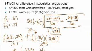 STATS250 - CI and HT for difference in two proportions