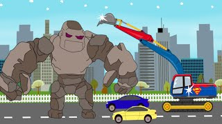 Video Superman Excavator VS Stone Giant | Toy Factory | Video For Kids - Koparka Superman MP3, 3GP, MP4, WEBM, AVI, FLV Agustus 2017