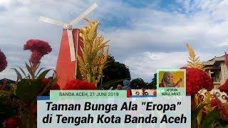 """Taman Bunga Ala """"Eropa"""" di Tengah Kota Banda Aceh. Hamparan Bunga Celosia di Gampong Beurawe"""