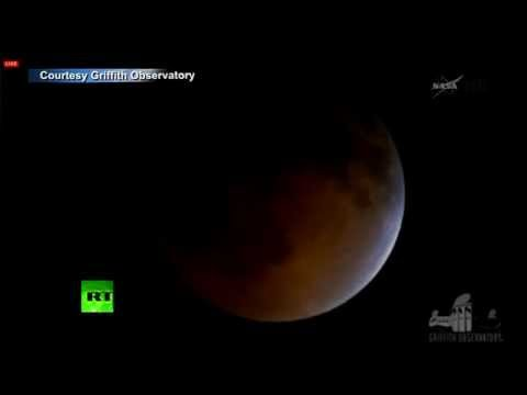 RED - Parts of the world including the Americas and Australia witnessed the first of four total eclipses. The lunar eclipses will take place roughly every six mont...