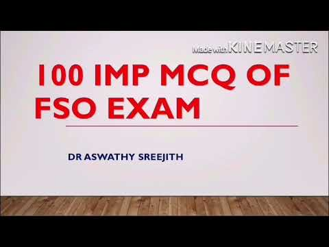100 imp mcq of FSO/Food safety officer examination.