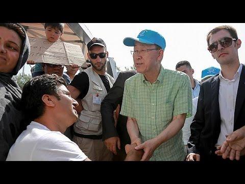 Λέσβος: Ο Γ.Γ του ΟΗΕ κοντά στους πρόσφυγες